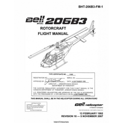 Bell Helicopter 206B3 Rotocraft Flight Manual/POH 1992