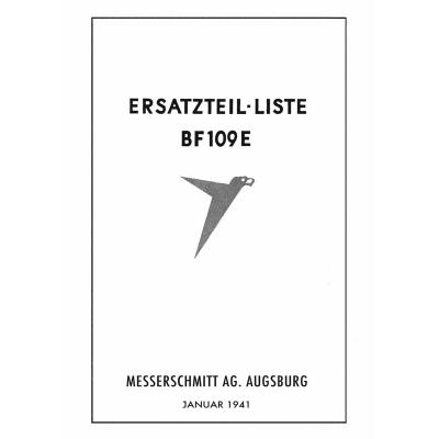 Messerschmitt Bf 109 E Ersatzteil-liste Messerschmitt A.G