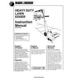 Black and Decker LE400 Heavy Duty Lawn Edger Instruction