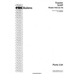 Bolens 1453 (G-14) Tractor 14HP Parts List 1977 $4.95