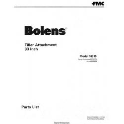 Bolens 18315 Tiller Attachment 33 inch Parts List 1978 $4.95