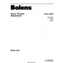 Bolens 18538 38 inch Snow Thrower Attachment Parts List