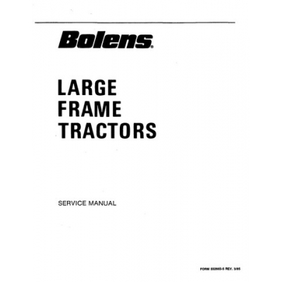 Bolens Large Frame Tractors 1886s thru 2389s Service