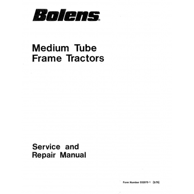 Bolens Medium Tube Frame Tractors Service and Repair