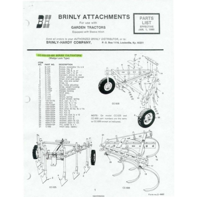 Brinly Attachments for Use with Garden Tractors Equipped
