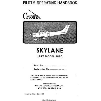 Cessna Skylane Model 182Q Pilot's Operating Handbook 1977