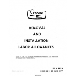 Cessna Removal and Installation Labor Allowances $19.95