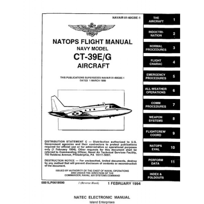 North American Sabreliner CT-39E/G Navy Model Aircraft