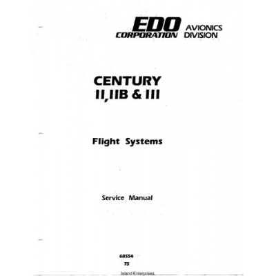 Century II, IIB & III Flight Systems 68S54 Service Manual