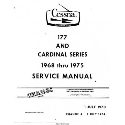 Cessna 177 and Cardinal Series Service Manual 1968-1975 $13.95