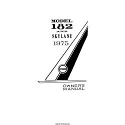 Cessna 182 and Skylane Owner's Manual 1975 $9.95