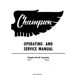 Champion 7EC and 7FC Operating and Service Manual $9.95