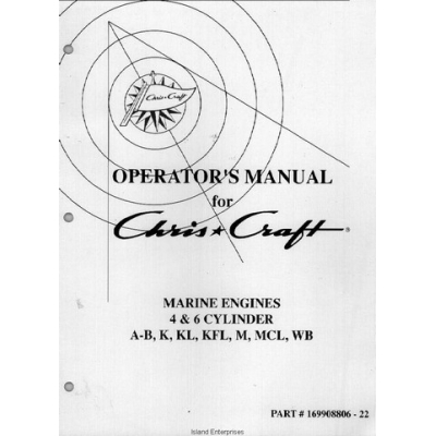Chris Craft Marine Engines 4 & 6 Cylinder A-B, K, KL, KFL