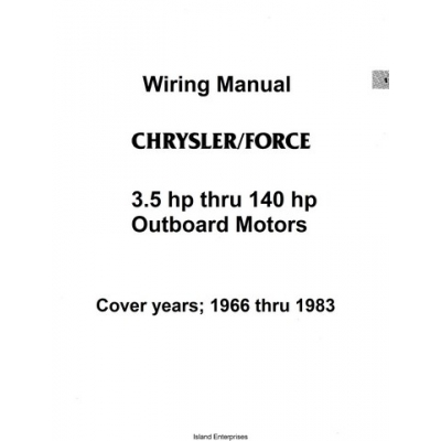 Chrysler/Force 3.5hp thru 140hp Outboard Motor Wiring