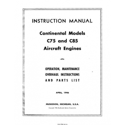 Continental C75 and C85 Instructions and Service Manual