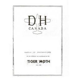 De Havilland Canada Tiger Moth DH 82C Manual of