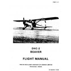 DHC-2 Beaver De Havilland Flight Manual/POH $9.95