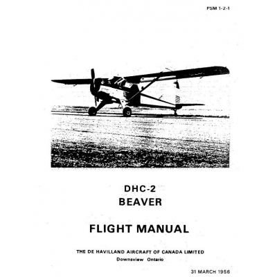DHC-2 Beaver De Havilland Flight Manual $9.95