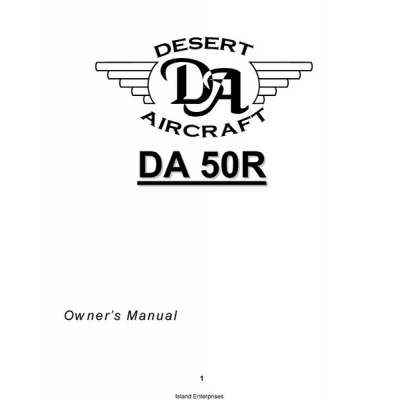 Desert Aircraft DA 50R Owner's Manual $4.95