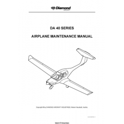 Diamond DA 40 Series Aircraft Maintenance Manual 2007 $13.95