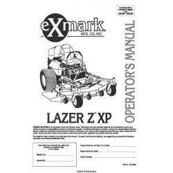 Exmark Mower Lazer Z XP 103-2983 S/N 370,000 Higher