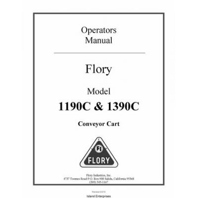 Flory 1190C & 1390C Conveyor Cart Operators Manual 2010 $4.95