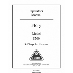 Flory 8500 Self Propelled Harvester Operators Manual 2009
