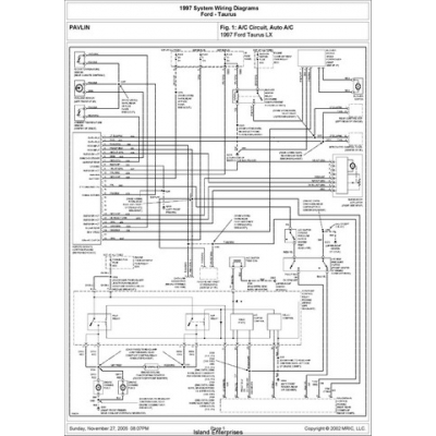 Ford Taurus LX System Wiring Diagrams 1997 $5.95