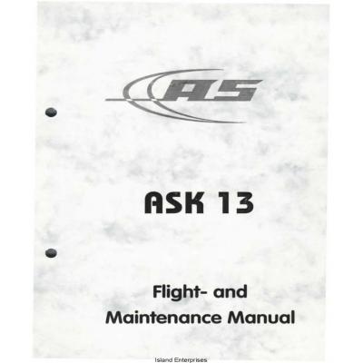 Ask 13 Flight and Maintenance Manual 2010 $9.95