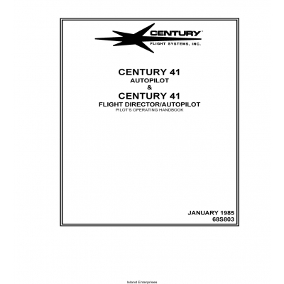 Century 41 Autopilot and Flight Director Pilot's Operating