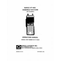 Narco HT 830 Handheld Nav/Com 920 Channels Operators