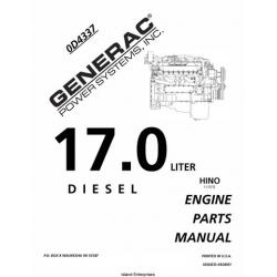 Hino 17.0 Liter Diesel Engine 0D4337 Parts Manual 2001 $9.95