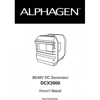 Honda Alphagen DCX3000 36/48V DC Generator Owner's Manual