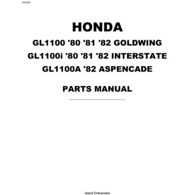 Honda Goldwing GL1100, GL1100i, GL1100A Motorcycles Parts