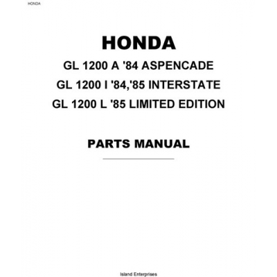 Honda Goldwing GL1200A, GL1200I, GL1200L Motorcycles Parts
