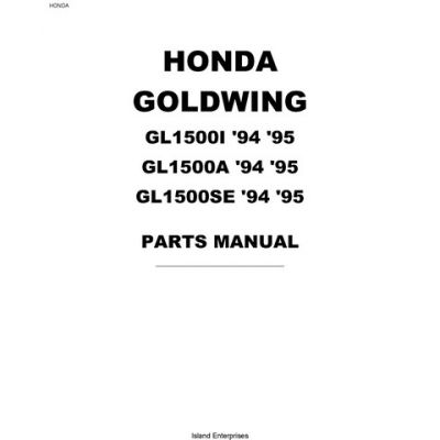 Honda Goldwing GL1500I, GL1500A and GL1500SE Motorcycles