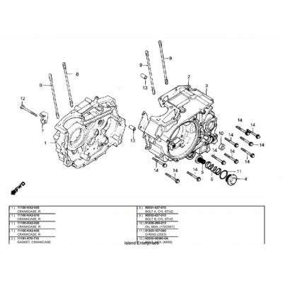 Honda TLR200 Motorcycle Parts Manual $9.95