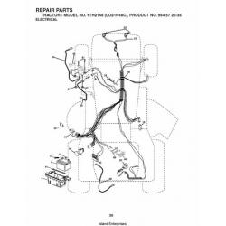 Husqvarna YTH2148 (LO21H48C) Tractor Repair Parts Manual $4.95