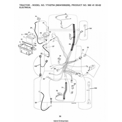 Husqvarna YTH2754 (96041006200) Tractor Repair Parts