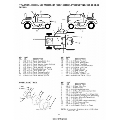 Husqvarna YTH2754XP (96041000502) Tractor Repair Parts