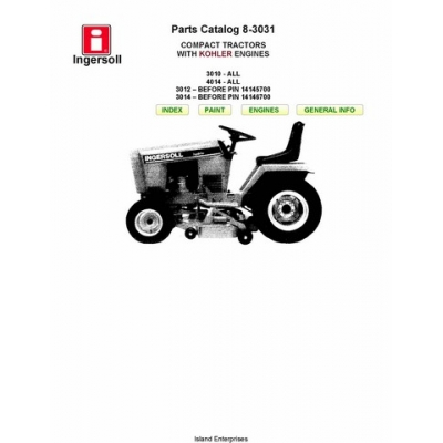 Ingersoll 3010, 3012, 3014, 4014 Compact Tractors with