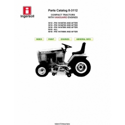 Ingersoll 3012, 3014, 3016 and 4016 Compact Tractors with