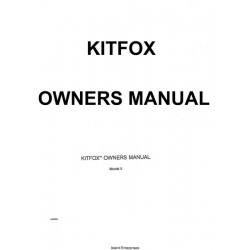 Kitfox Model II Owners Manual 1991 $4.95