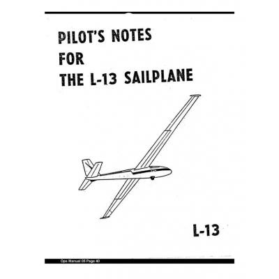 Blanik L-13 Pilot's Notes $2.95