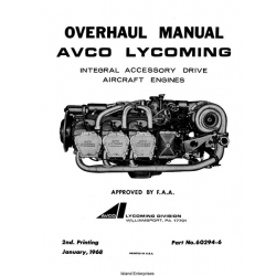 Lycoming Integral Accessory Drive Aircraft Engines