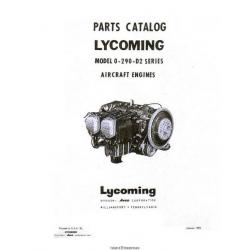 Lycoming O-290-D2 Series Aircraft Engines Parts Catalog