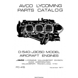Lycoming O-540-J3C5D Aircraft Engines Parts Catalog PC-415
