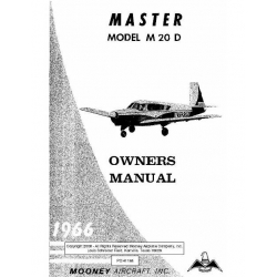 Mooney Master M20D Owner's Manual 1966 $9.95