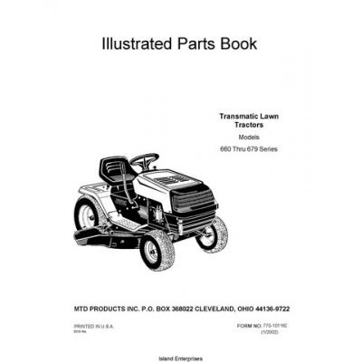 MTD Transmatic Lawn Tractors Models 660 thru 679 Series