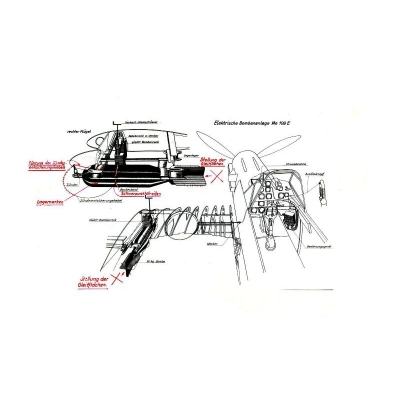 Messerschmitt 109 E Bombenanlage Bedienungsvorschrift $2.95